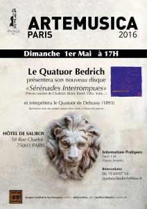 Affiche 1er Mai quatuor bedrich affiche